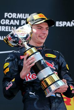 Max Verstappen wins GP Spain 2016 !!! Wow, at the age of 18. for Red Bull Racing.