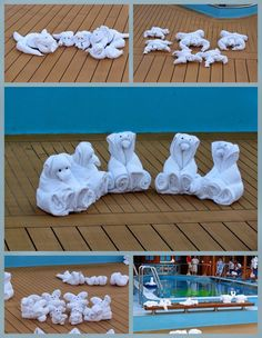 Holidays, Homeschool, & Home: Cruise Towel Animals Crafts To Make, Crafts For Kids, Diy Crafts, Towel Animals, Towel Origami, How To Fold Towels, Baby Washcloth, Towel Cakes, Napkin Folding