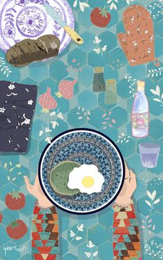 Food Illustration by Yaansoon   The Illustration Blog of a Nomadic Mediterranean Foodie