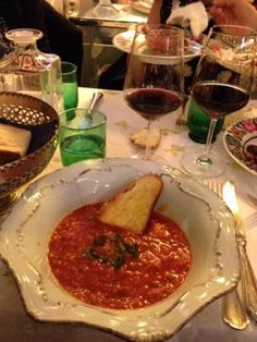 Pappa al pomodoro toscana! At the Small restaurant in Milan! Click for details...
