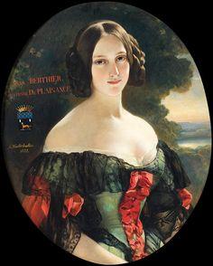 Franz Xaver Winterhalter Painting - Portrait Of Anna Berthier Countess Of Plaisance by Franz Xaver Winterhalter