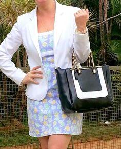blog v@ LOOKS | por leila diniz: Look DELICADO por conta do casaqueto branco com ve...
