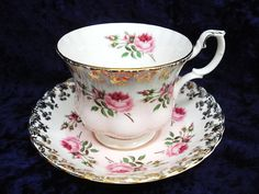 Royal Albert China Cup  and Saucer Tiny Pink Roses ♥ by lasadana