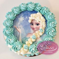 Untitled Elsa Birthday Cake, Birthday Cakes For Teens, Frozen Cake, Frozen Party, Edible Photo Cake, Elsa Cakes, Barbie Cake, Character Cakes, Cake Decorating For Beginners