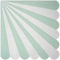 meri meri gestreepte servetjes mint - small (20st)