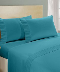 Look at this #zulilyfind! Aqua Chamberlain London Microfiber Sheet Set #zulilyfinds
