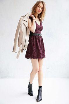 Kimchi Blue Lace Jan Jan Mini Dress - Urban Outfitters