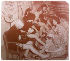 Did you know that back in the 1940′s when there was the war & a shortage in stockings, ladies had the option of getting their 'stockings' painted on- with a 'seam line' down the back of the calf to boot? No? Neither did I!