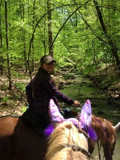 Bree Hogeland riding Spark her horse at Oak Mountain State Park in Alabama