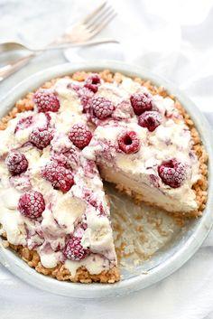 4 Ingredient Ice Cream Pie with Peanut Butter Krispie Crust