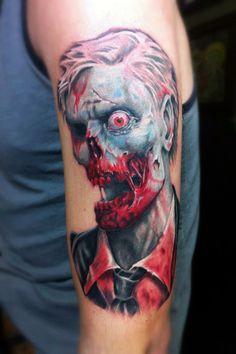 Cool zombie tattoo...