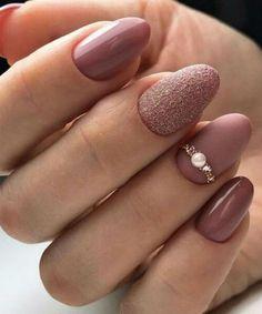 Spectacular wedding nail art designs to fascinate everyone - . - Spectacular wedding nail art designs to fascinate everyone – - Trendy Nails, Cute Nails, Hair And Nails, My Nails, Polish Nails, Fall Nails, Holiday Nails, Simple Gel Nails, Engagement Nails
