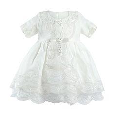 Bebetto Baby Girl's 4 Piece Christening Baptism Short Sleeve Dress Gown ( Shoe,Tight, and Headband included) 0-3M Bebetto http://www.amazon.com/dp/B00U8V7RFW/ref=cm_sw_r_pi_dp_SnYjwb0WC1B8M
