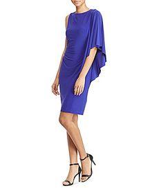 Lauren Ralph Lauren FlutterSleeve Jersey Dress #Dillards