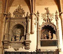 Palencia Dueñas - D. Fadrique y D. Pedro de Acuña, condes de Buendía; iglesia de Sta. María, Dueñas