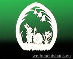 Fensterbild Ostern Hase mit Pinsel und Narzisse