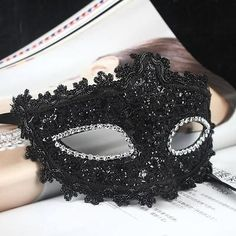 Black Lace Party Masquerade Venetian Eye Mask Halloween Costume Party