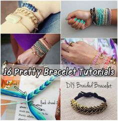 16 Pretty Bracelet Tutorials