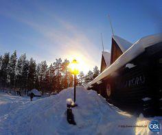 Séjour linguistique en Laponie avec le CEI  #Laponie #Lapland #CEI #voyage #travel #sejourlinguistique #winter #nature #snow #light