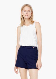 Shorts cintura alta   MANGO