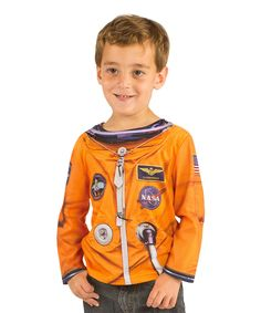 Look at this #zulilyfind! Orange Astronaut Space Suit Tee - Toddler by Faux Real #zulilyfinds