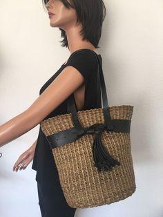 Bag Sisal Straw Boho Hip Designer Fashion Summer Tassels Artisan Fun Women   | eBay