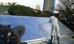 Treating the Main Roof with Protective UV Silver Aluminium