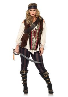 9824ad45ca141 Captain Blackheart Plus Size Costume. Pink Impulse. pirate costume womens  ...