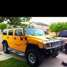 Have always wanted a yellow hummer!