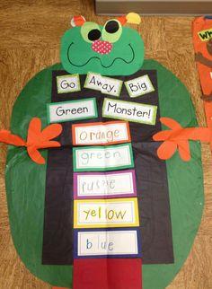 Go Away Big Green Monster! Monster Theme Classroom, New Classroom, Classroom Crafts, Classroom Themes, Monster Activities, Pre K Activities, Monster Book Of Monsters, Green Monsters, Kindergarten Books