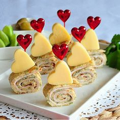 Valentine Roll Sandwiches (food and drink art)