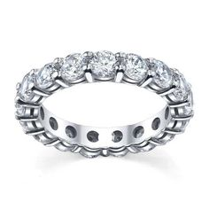 Forever One Moissanite Round Eternity Ring Moissanite Wedding Rings, Forever One Moissanite, Eternity Ring, Band Rings, Sparkle, Engagement Rings, Gifts, Jewelry, Enagement Rings