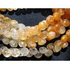 SunStone Beads Faceted Gemsones Onion Briolettes by gemsforjewels, $39.25