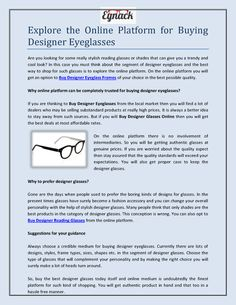 Eynack offers lots of designs, styles, frame types, sizes, shapes etc. in the segment of designer eyeglasses. Stylish Reading Glasses, Buy Bamboo, Designer Eyeglasses, Eye Glasses, How To Look Better, Platform, Good Things, Explore, Stuff To Buy
