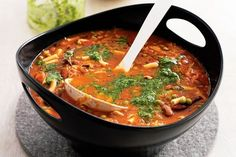 """""""Homestyle minestrone"""" Traditional Italian minestrone soup is a nutritious and healthy start to any meal. Dutch Recipes, Italian Recipes, Soup Recipes, Cooking Recipes, Healthy Recipes, Yummy Recipes, Soup Beans, Italian Soup, Homemade Soup"""