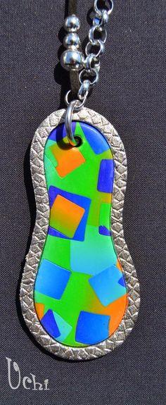 Mosaico degradado - Arcilla polimérica, polymer clay   UCHI