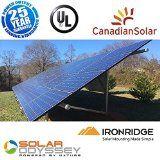 5000W SOLAR PANEL KIT ON GIRD-TIE w/GROUND MOUNT SYSTEM POLY 5000 WATT DIY CE UL