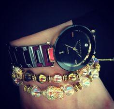 Love this watch! #meetybrand #leopardess #annekleinCZ #anneklein #annekleinwatch #stylish #black #gold #woman #womanstyle #musthave #ootd #fashion #fashionstyle #fashiongram #watch #watches #watchporn #energybracelet #bracelet