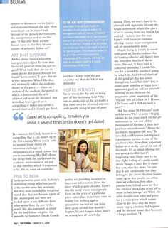 Tracking good art - interview with Savita Apte - page 2 Evolution, Cool Art, Believe, Interview, History, Historia