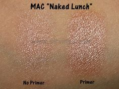 MAC Naked Lunch eyeshadow swatches