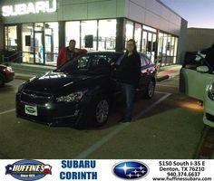 https://flic.kr/p/NcnxrK | Happy Anniversary to Mary on your #Subaru #Impreza Wagon from Mike Bresnahan at Huffines Subaru Corinth! | deliverymaxx.com/DealerReviews.aspx?DealerCode=XDJB