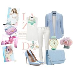 Designer Clothes, Shoes & Bags for Women Tiffany Blue Bathrooms, Spring Time, Pastels, Spring Fashion, Style Inspiration, Shoe Bag, Polyvore, Cute, Collection