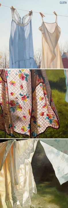 """cloth"" - oil paintings by cindy rizza <3"