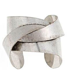 Silver Art Deco Cuff by Blu Bijoux