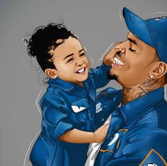 Chris Brown and Royalty Chris Brown Drawing, Chris Brown Art, Black Love Art, Black Girl Art, Art Girl, Chris Brown Wallpaper, Chris Brown And Royalty, Trill Art, Dope Cartoons