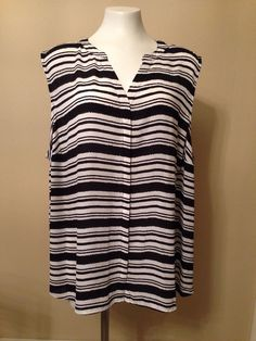 b1d1f24534e657 Women's APT. 9 Black Sheer Sleeveless Button Down V-Neck Top Blouse Plus 3X  NWT   eBay
