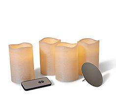 4 LED-Echtwachskerzen