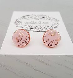 Hey, I found this really awesome Etsy listing at https://www.etsy.com/listing/562357683/rose-gold-and-pink-copper-clay-stud