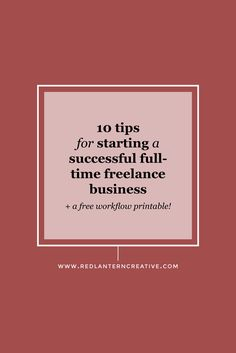 Are you thinking of leaving your full-time job to start a freelance business? Here are a few tips I've learned that will help you when you take the leap.