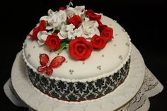 black and red wedding cakes | black and red wedding cakes
